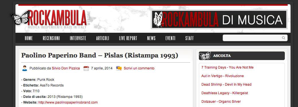 Pislas recensito su Rockambula